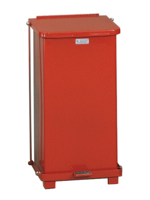 12 Gallon Defenders® Square Step Can, Red