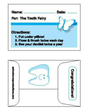 Tooth Fairy Tooth Saver Envelopes, 100/Pack