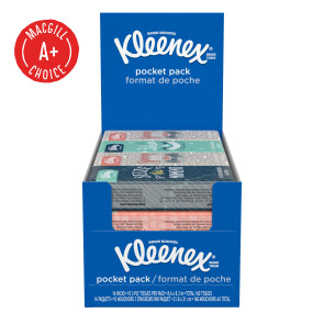 Kleenex® Pocket Packs, 10/Pack, 16 Packs/Box