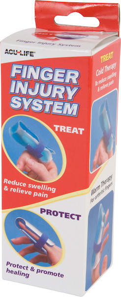Finger Treatment System: Ice Pack/Splint Combo