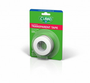 "Curad® Clear Tape, 1"" x 10 Yards, 1 Roll"