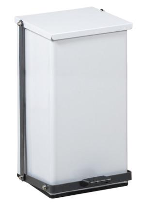 8 Gallon Premium Square Step-On Can, White