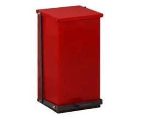 8 Gallon Premium Square Step-On Can, Red