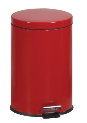 Round Step-On 5 Gallon Waste Receptacle, Red