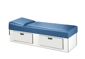 [$] Liana Recovery Couch w/2-Drawer Base, Non-Adj. Headrest