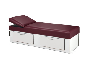 [$] Liana Recovery Couch with 2-Drawer Base, Adj. Headrest