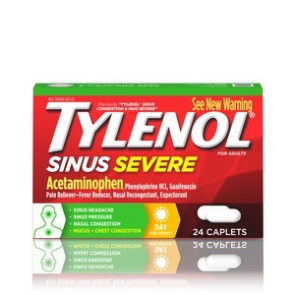 Tylenol® Sinus Congestion & Pain Caplets 24/Box
