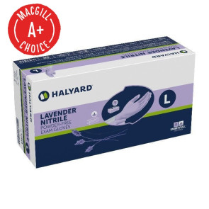 Large Halyard Lavender® Nitrile Gloves 250/Box
