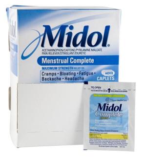 Midol® Maximum Strength, Unit Dose Packs, 50/Box