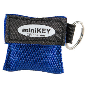Economy CPR Face Shield in Woven Keychain Pouch