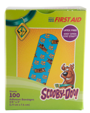 "Scooby Doo! Bandage Strips, 3/4"" x 3"", 100/Box"