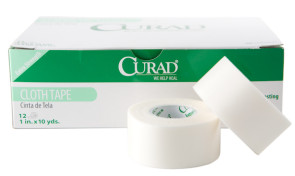 "Curad® Cloth Tape, 1"" x 10 Yards, 12 Rolls/Box"