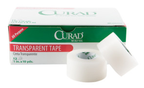 "Curad® Clear Tape, 1"" x 10 Yards, 12 Rolls/Box"