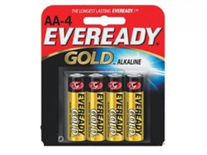"Economy ""AA"" Alkaline Batteries, 4/Pack"
