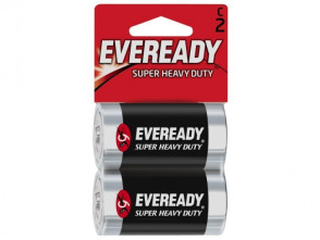 "Economy ""C"" Alkaline Batteries, 2/Pack"