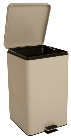 Square Step-On Waste Receptacle, 8 Gallon, Beige