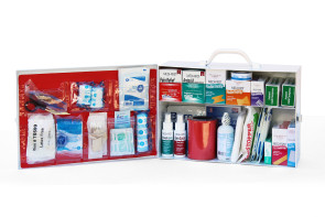 Complete 2-Shelf Metal First Aid Kit