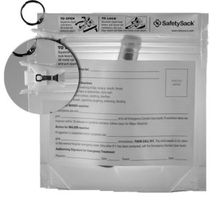 SafetySack™ Medication Pouch, Blank Action Plan