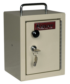 Small Single Door, Single Lock Narcotic Cabinet, Beige