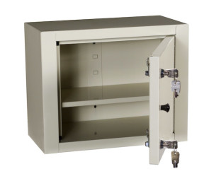 Single Door/Double Lock Narcotic Cabinet, Beige
