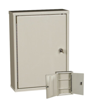 Double Door, Double Lock Narcotic Cabinet, Beige