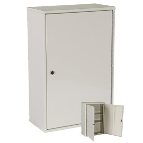 Double Door/Double Lock Narcotic Cabinet, Beige