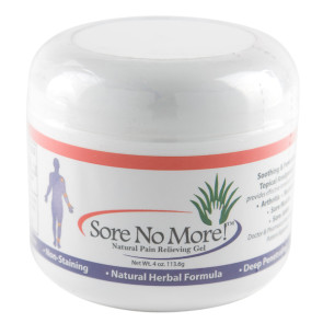 Sore No More!™ Natural Pain Relieving Gel, 4 Oz Jar