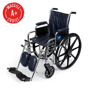 "Wheelchair, 16"" Seat, Padded Removable Desk Arms, Legrest"