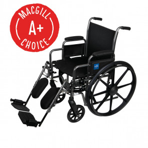 """Wheelchair, 18"""" Seat, Padded Removable Desk Arms, Legrest"""