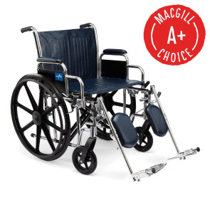 """Wheelchair, 24"""" Seat, Padded Removable Desk Arms & Legrests"""