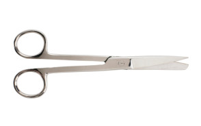 "Operating Scissors, Straight, 6-1/2"", Sharp/Blunt"