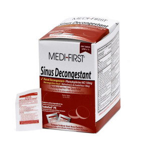 Non-Pseudo Sinus Decongestant Packets, Generic 250/Box