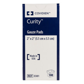 "Curity Sterile 2"" x 2"" Gauze Pads, 100/Box"