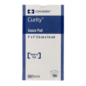 "Curity Sterile 3"" x 3"" Gauze Pads, 100/Box"