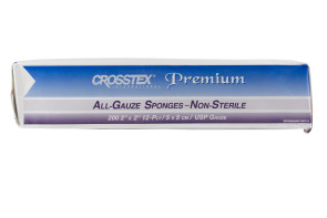 "Crosstex Non-Sterile 2"" x 2"" Gauze Sponges 200/Bag"