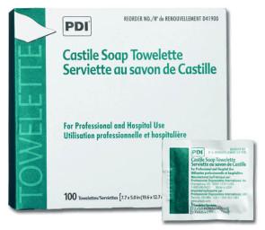 PDI® Castile Soap Towelettes, 100/Box