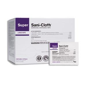 "Super Sani-Cloth 5"" x 8"", 50/Box"