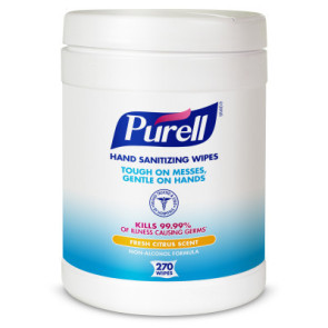 Purell® Sanitizing Wipes, 270/Can