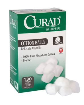 Sterile Cotton Balls, 130/Box