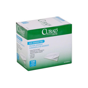"Curad Sterile 2"" x 3"" Non-Adherent Pads, 100/Box"