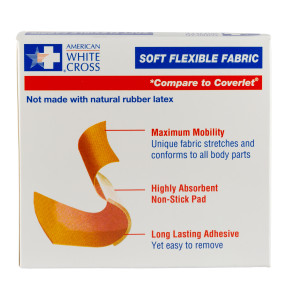 "2"" x 3"" Patch Soft Flexible Fabric Bandages, 50/Box"