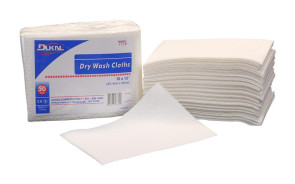 Non-Woven Disposable Washcloths, Latex-Free, 500/Case