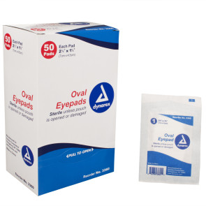 "Oval Eye Pads, 1-5/8"" x 2-5/8"", 50/Box"