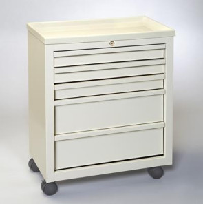 Economy 5-Drawer Treatment/Procedure Cart - Beige