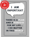 "I Am Important Poster, 11"" x 17"", Laminated"