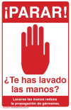 "Stop! Did You Wash Your Hands? Poster, 11"" x 17"", Spanish"