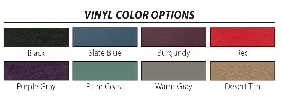2018 Clinton Vinyl Colors